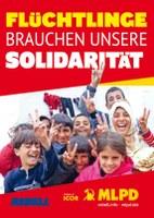 Flüchtlinge brauchen unsere Solidarität - Aufkleber