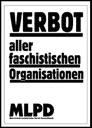 Verbot aller faschistischen Organisationen - Aufkleber