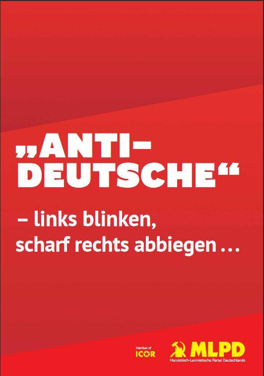 """Anti-Deutsche"" - links blinken, scharf rechts abbiegen"