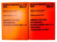 """Konspekt zur Frage der Denkweise  im REVOLUTIONÄREN WEG 1-24 und im Buch """"Sozialismus am Ende?"""""""