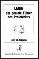 Lenin, der geniale Führer des Proletariats