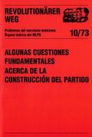 Revolutionärer Weg 10 - Einige Grundfragen des Parteiaufbaus, spanisch
