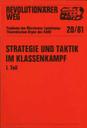 Revolutionärer Weg 20-21 - Strategie und Taktik im Klassenkampf