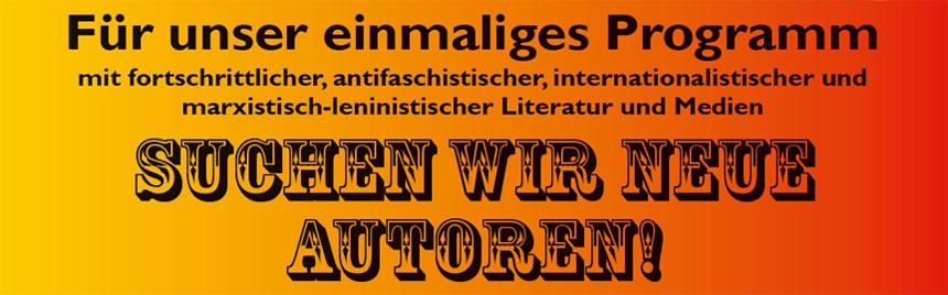 Neue Autoren gesucht!
